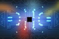 芯片科技电路背景图片