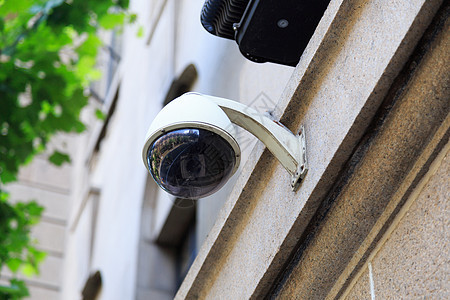 建筑上的监控摄像头图片
