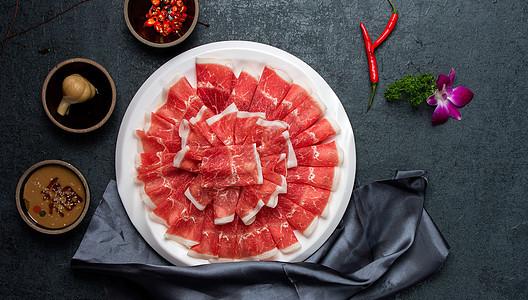 火锅食材肥牛卷羊肉卷图片