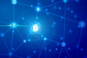蓝色科技比特币图片