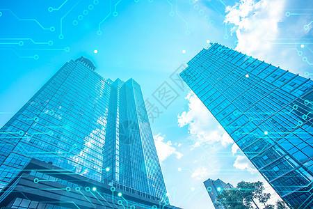 高楼科技背景图片