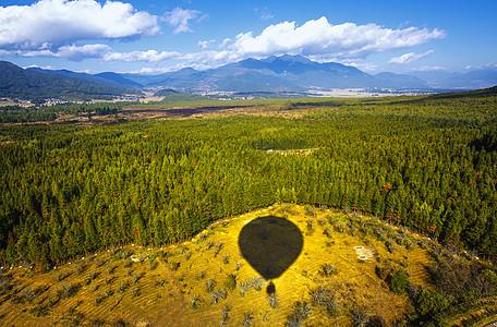 高空热气球图片