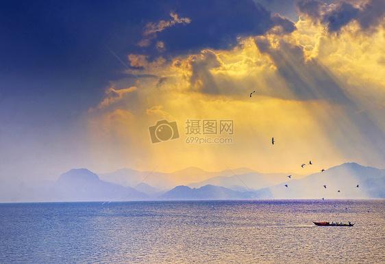 中国云南玉溪抚仙湖图片