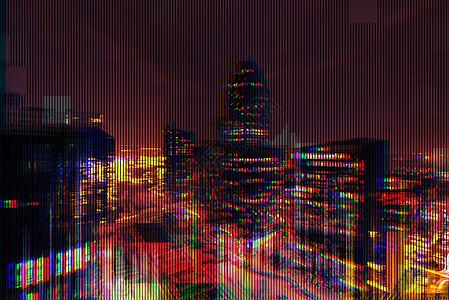 失真的城市图片