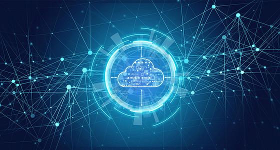 科技地图线条背景图片