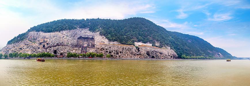 龙门石窟景区全景图图片