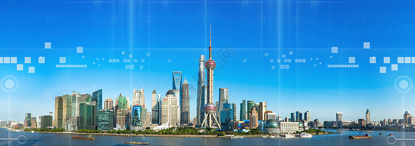 城市科技感线条背景图片