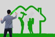 粉刷健康的家庭图片