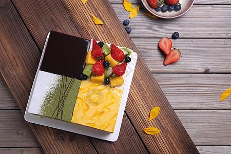 四重奏 四拼蛋糕图片