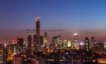 北京CBD国贸夜景图片