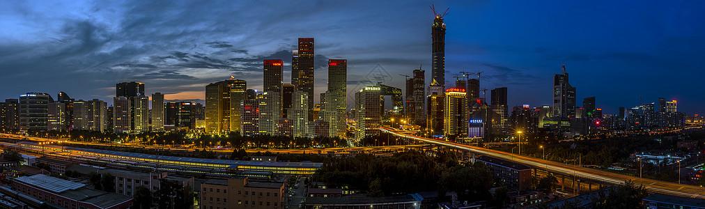 北京cbd夜景图片