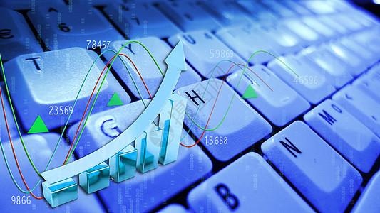 键盘上的数据上升图片