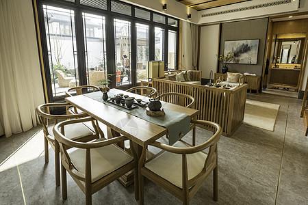 新中式样餐厅室内设计图片