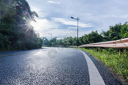 大气美丽风景区落日公路图片