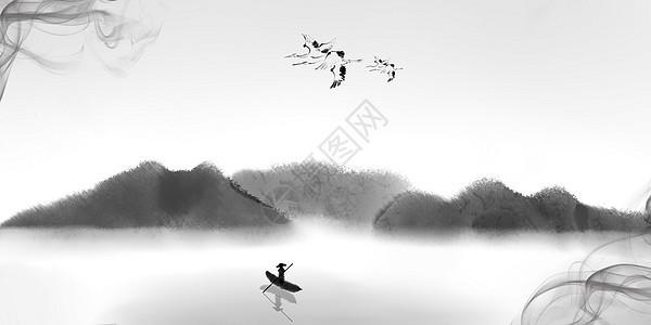 中国风水墨简约背景图片