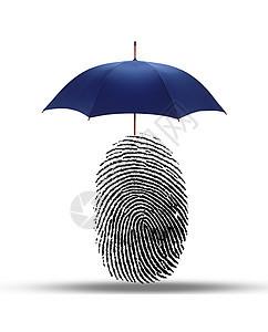 指纹长出雨伞图片