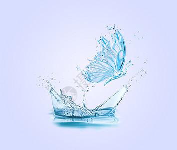 创意水蝴蝶图片