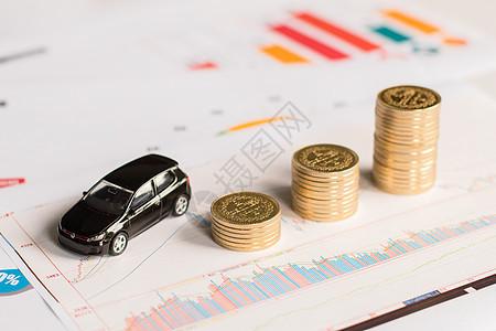 投资理财技巧金币概念图图片