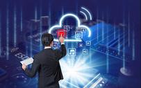 商务人士使用云端技术图片