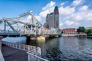 天津海河解放桥图片