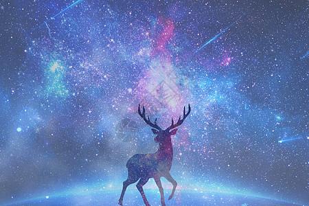云端上的鹿图片