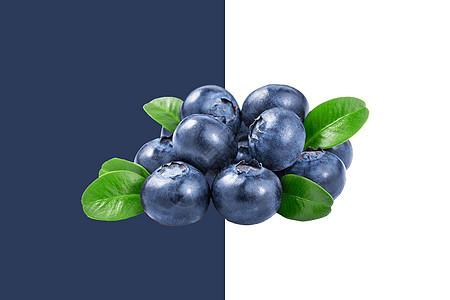 蓝莓水果背景图片