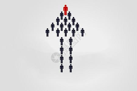 商业团队箭头领导者图片