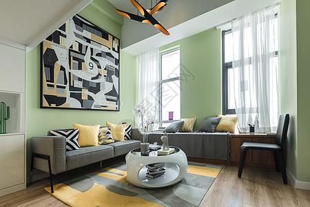 小户型北欧简约风格客厅图片
