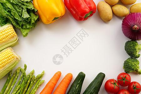 蔬菜组合背景图片