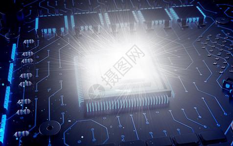 发光的电路板图片