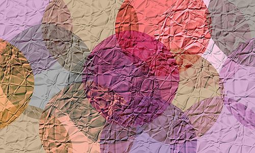彩色梦幻圆形泡泡叠加抽象油画美术图片