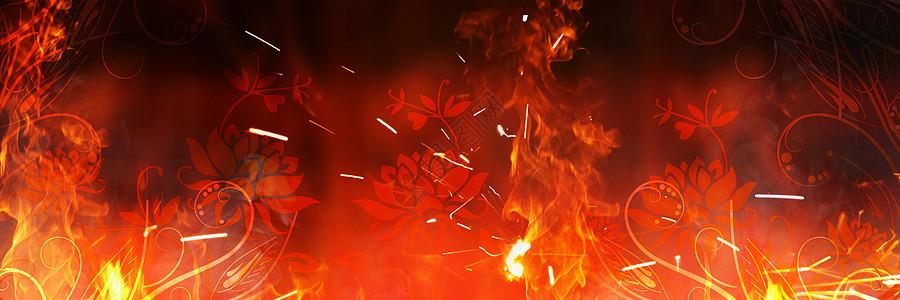 燃烧的花图片
