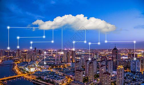 网络云数据传播图片