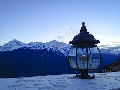 西藏酥油灯图片