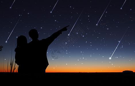 星空下的骑行图片