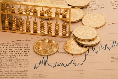 金色的投资理财概念图图片