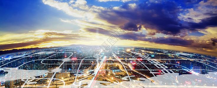 科技感城市背景图片