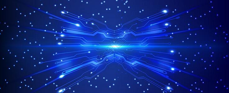 蓝色机械感科技背景图片