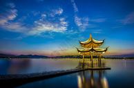 杭州西湖集贤亭图片
