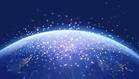 数据交换和全球网络图片