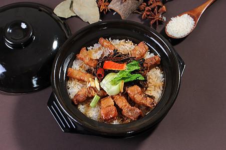 梅干菜红烧肉煲仔饭图片