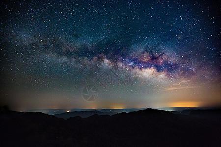 夜空中的银河图片