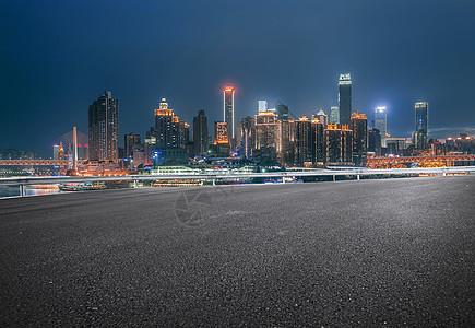 重庆夜景城市道路素材图片