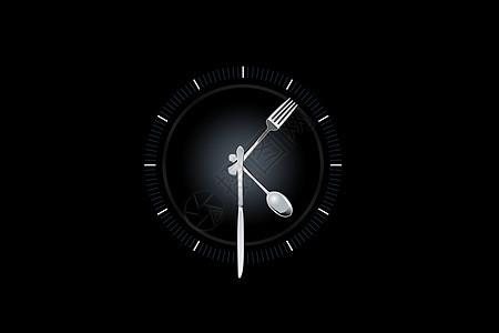 餐具钟表图片