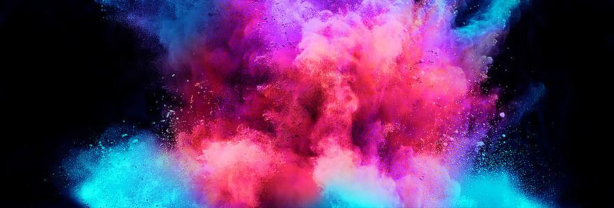 绚丽彩粉_彩色粉尘粉末图片