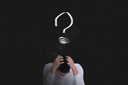 沉思中的男人创意图图片