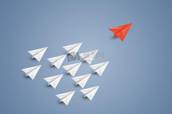 创意纸飞机排列图片