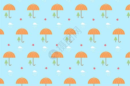 蓝色雨伞背景图片