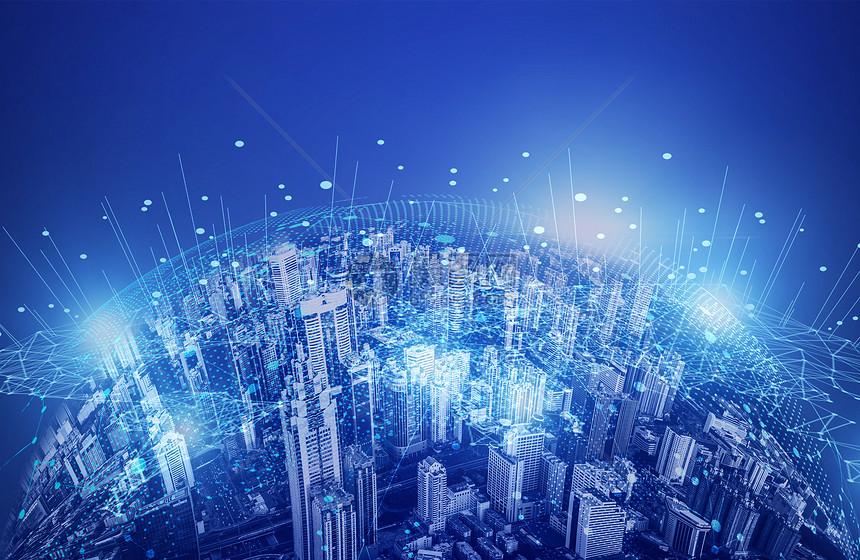 科技地球线条背景图片