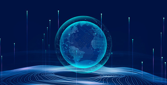 科技智能蓝色背景图片